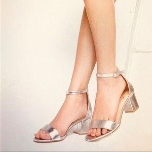 J. Adams Kitten Heel Ankle Strap Sandals